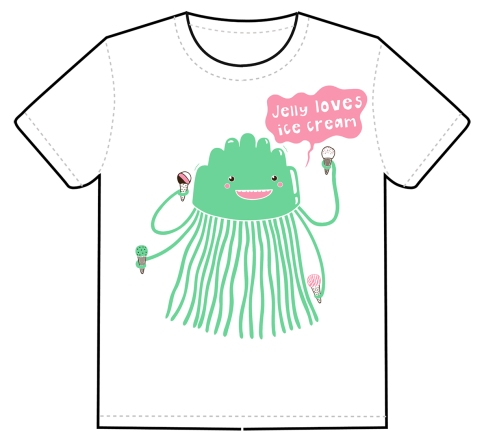 Jelly Loves Ice Cream by Lucy Farfort for Mimi and Will