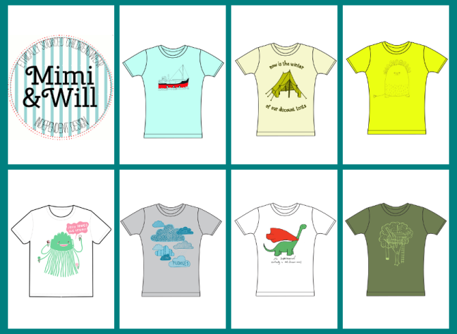 Mimi and Will September 2013 T Shirt Design Proofs