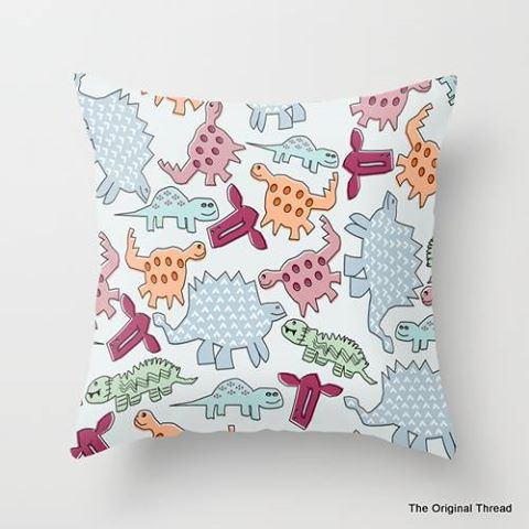 Dinosaur Cushion By the Original Thread
