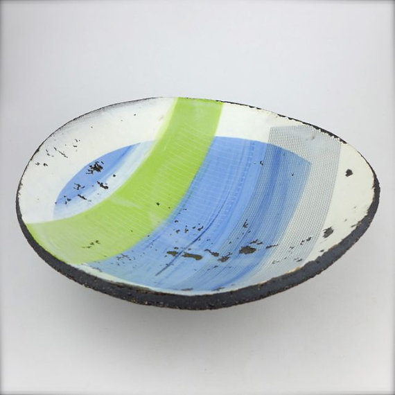 Waves and Arrows Bowl by Julia Smith
