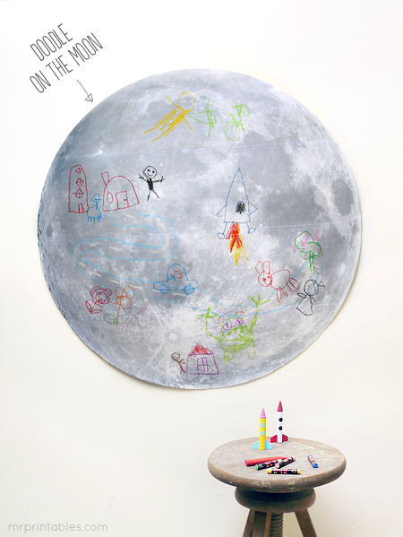 Doodle on the Moon by Mr Printables