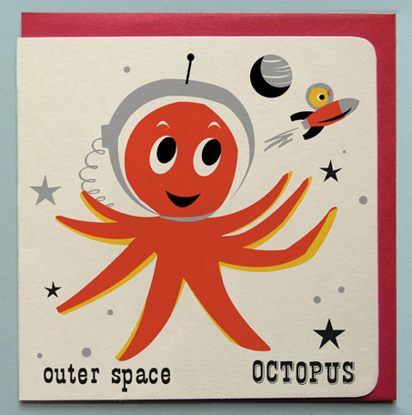 Space Octopus Card by Ketchup on Everything