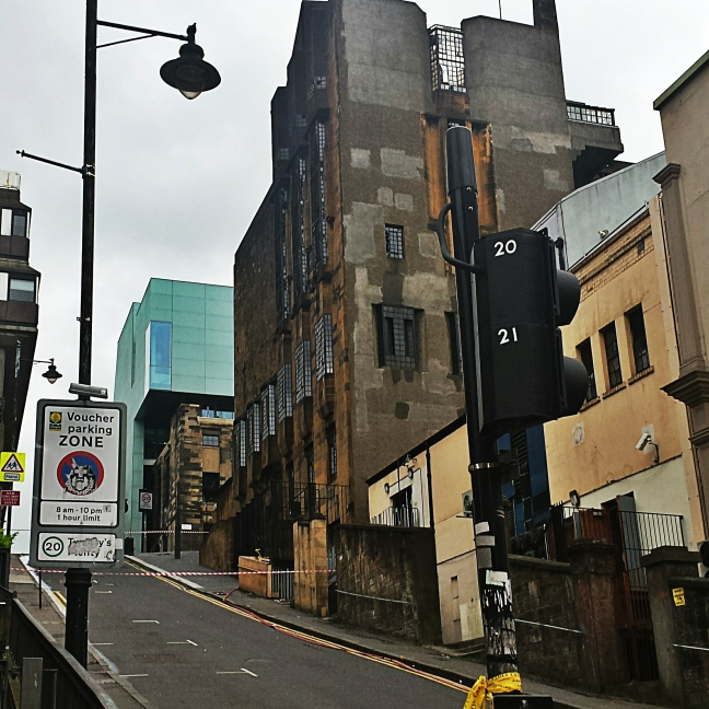 Glasgow School of Art Mackintosh Building taken 24/05/2014